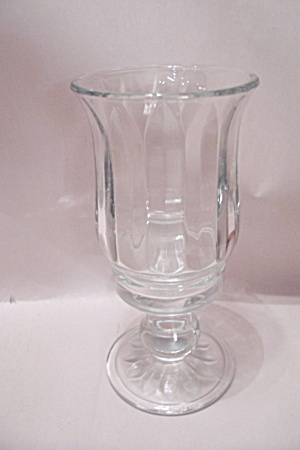 Crystal Pattern Glass Goblet