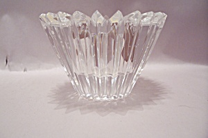 Waterford Cut Crystal Glass Footed Candle Holder
