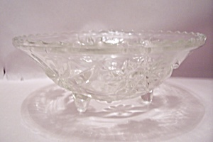 Fire King/anchor Hocking Eapc 3-toed Crystal Glass Bowl
