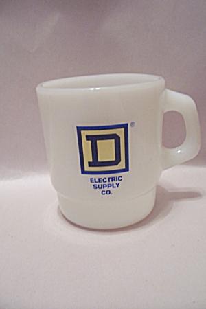 Fire King/Anchor Hocking Milk Glass Advertising Mug (Image1)