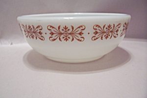 Pyrex Tableware Milk Glass Cereal Bowl
