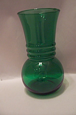 Fire King/anchor Hocking Forest Green Vase
