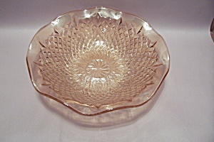Light Amber Tinted Art Glass Centerpiece Bowl