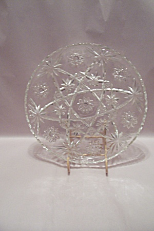 Fire King/anchor Hocking Eapc Crystal Serving Platter