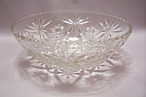 Fire King/anchor Hocking Eapc Crystal Glass Salad Bowl