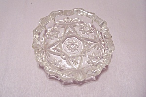 Fire King/anchor Hocking Eapc Crystal Glass Ash Tray