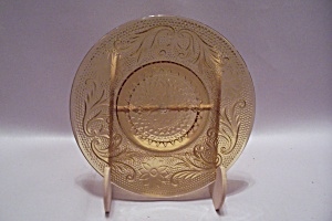 Amber  Depression Glass Bread & Butter Plate  (Image1)