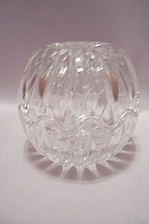 Crystal Glass Lidded Cache/trinket Box