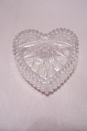 Crystal Glass Heart Shaped Jewelry Box
