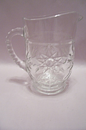 Fire King/anchor Hocking Eapc Crystal Glass Pitcher