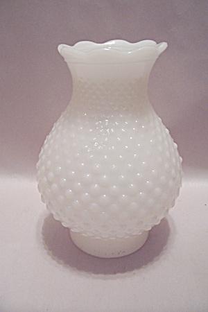 Milk Glass Hobnail Lantern Globe (Image1)