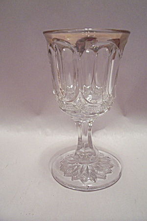 Thumbprint Pattern Crystal Wine Glass