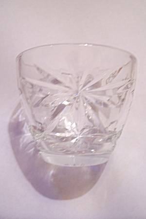 Fire King/anchor Hocking Eapc Crystal Footed Sherbet