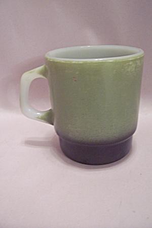 Fire King Avocado Green & Black Trimmed Mug (Image1)