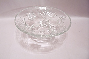Fire King/anchor Hocking Eapc 3-toed Glass Bowl