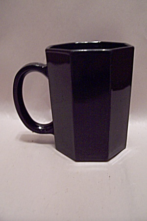 French Black Glass 8-sided/octagon Mug
