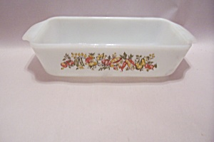 Fire King/anchor Hocking Oven Proof Glass Loaf Pan