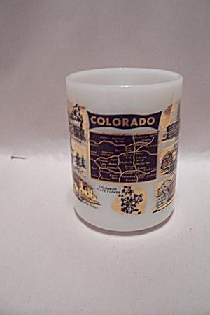 Colorado Souvenir Milk Glass Mug (Image1)