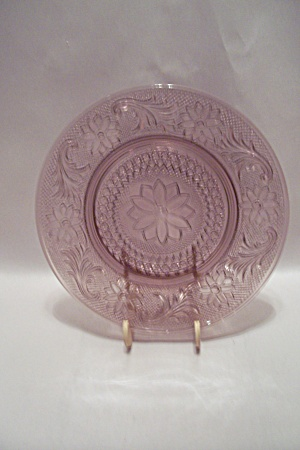 Pink Pattern Glass Lunch Plate