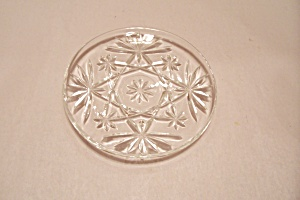 Fire King/anchor Hocking Eapc Crystal Glass Coaster