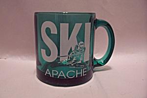 Ski Apache Aqua Glass Mug (Image1)
