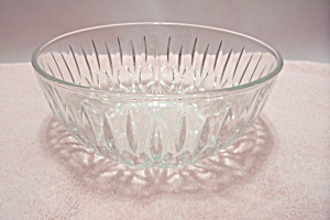 Crystal Pattern Glass Salad/serving Bowl