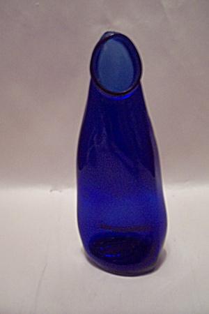 Cobalt Blue Bottle Vase (Image1)
