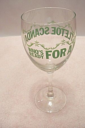 Crystal Glass Novelty Holiday Wine Glass