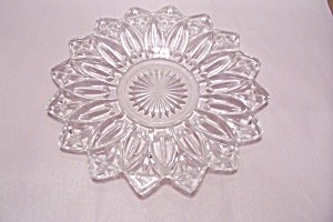 Opalescent Crystal Pattern Glass Serving Tray (Image1)