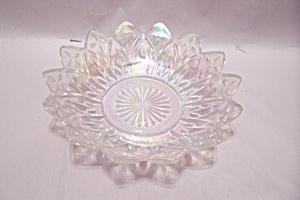 Opalescent Crystal Pattern Glass Vegetable Serving Bowl (Image1)