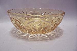 Fire King/Anchor Hocking Amber Glass Dessert/Berry Bowl (Image1)