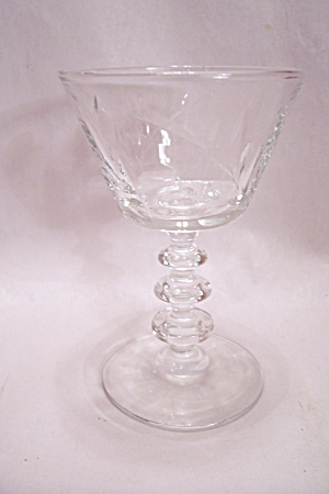 Crystal Pattern Glass Wine Glass