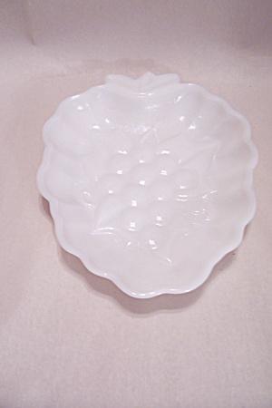 Milk Glass Grape Pattern Candy Dish (Image1)