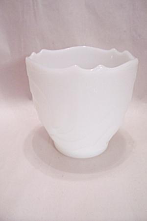 Milk Glass Floral Pattern Bowl/Vase (Image1)