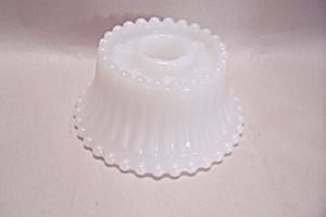 Milk Pattern Glass Candle Holder