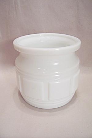 Milk Glass Kitchen Utensil Bowl/Cache Pot  (Image1)