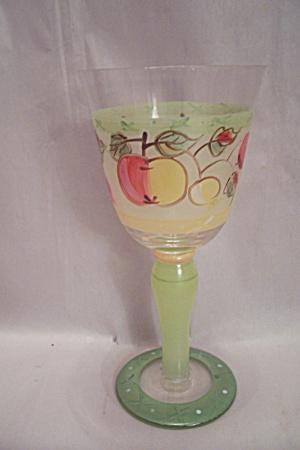 Stemware Fruit Decorated Wine Glass (Image1)