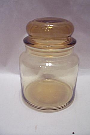 Light Amber Glass Lidded Storage Jar/Canister (Image1)