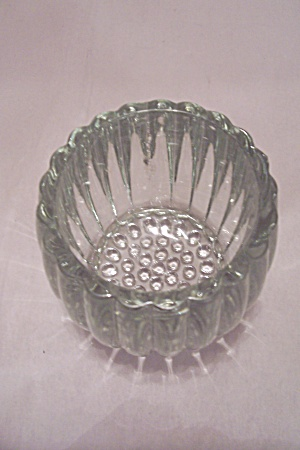 Crystal Pattern Glass Candle Holder