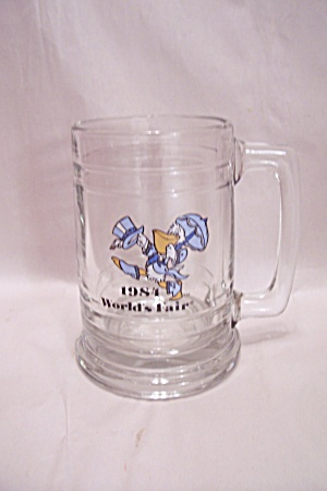 1981 World's Fair Crystal Glass Beer Mug
