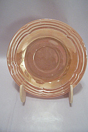 Fire King/anchor Hocking Three Bands Lustre Saucer