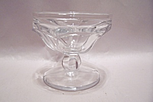Crystal Pattern Glass Ice Cream Sundae Dish