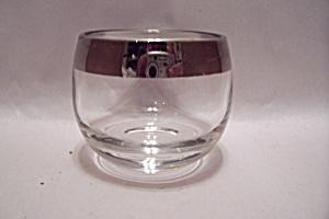 Crystal Glass Silver Rim Bar Glass (Image1)
