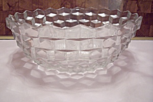 Fostoria Crystal American Pattern Glass Salad Bowl (Image1)