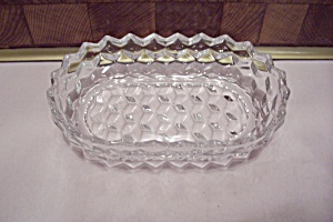 Fostoria American Pattern Crystal Glass Oval Olive Dish (Image1)