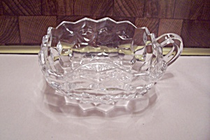 Fostoria American Pattern Crystal Glass Square Nappy (Image1)