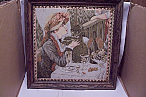 Needlepoint Of Renoir's Luncheon Of The Boating Party (Image1)