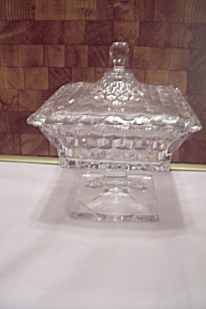 Fostoria American Pattern Glass Large Wedding Dish (Image1)