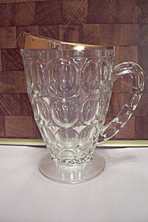 Fostoria American Pattern Anniversary Glass Pitcher