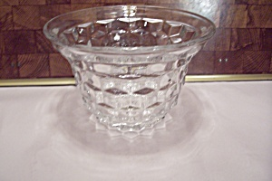 Fostoria American Pattern Crystal Glass Mayonaise Bowl